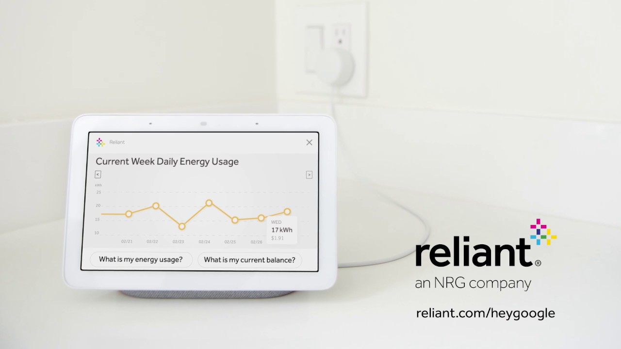 The Google Assistant | Reliant Energy