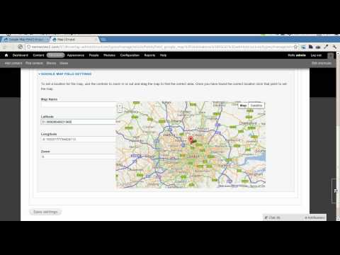 Drupal Google Map Field Module