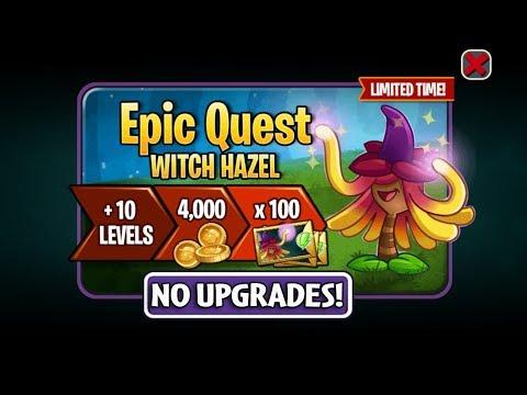 PvZ 2 - Epic Quest Witch Hazel 2 - Level 1 Plants