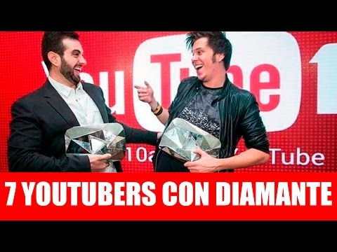 Thumbnail: Top 7 youtubers con BOTÓN (placa) de DIAMANTE