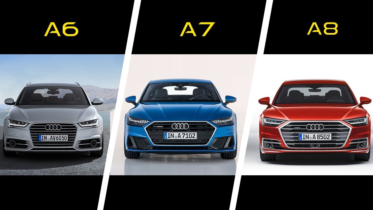 2017 Audi A6 vs 2018 Audi A7 vs 2018 Audi A8 - YouTube