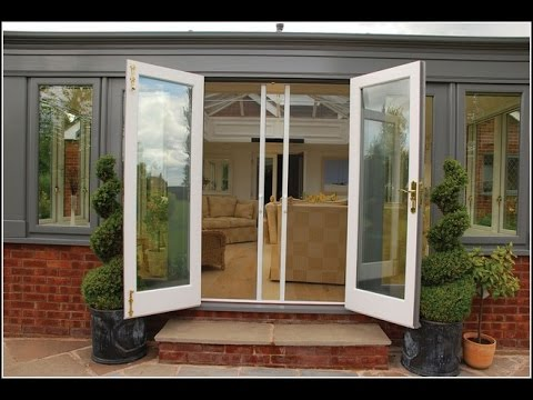 Folding patio doors with screens youtube for Patio doors folding sliding