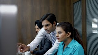 Business concept - Smart employees working in the office and discussing - IT Company
