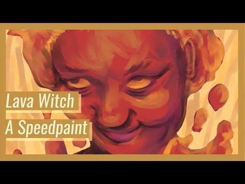Aesthetic Generator Speedpaint: Lava Witch (With Audio)