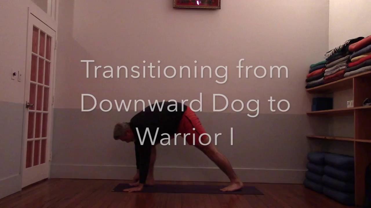 Downward Facing Dog To Warrior 1