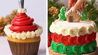 How To Make Christmas Cake Decorating Ideas | So Yummy Cake Decorating Recipes | Tasty Plus
