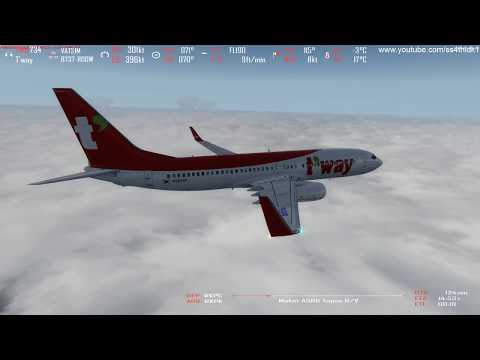 P3D v4 3 Korean indepence day flight T'way 734 Gimhae to