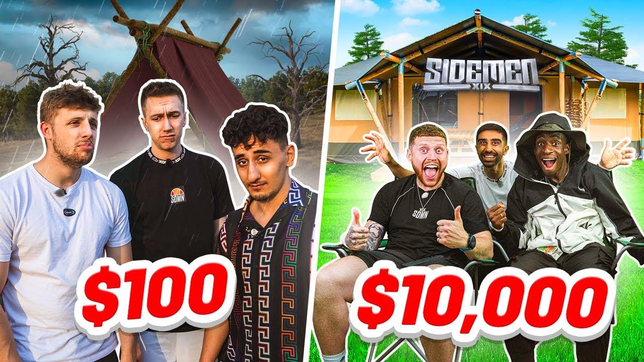 Download SIDEMEN $10,000 vs $100 CAMPING