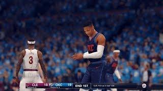 NBA Live 18: Cavs At OKC - Melo Vs Video Game James