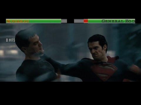 Superman vs General Zod...with healthbars