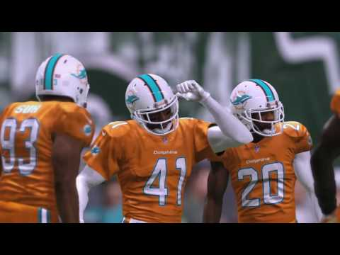 New York Jets vs Miami Dolphins ( Madden 17 ) NFL  Color Rush