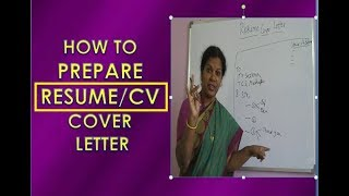 HOW TO WRITE RESUME/CV COVER LETTER