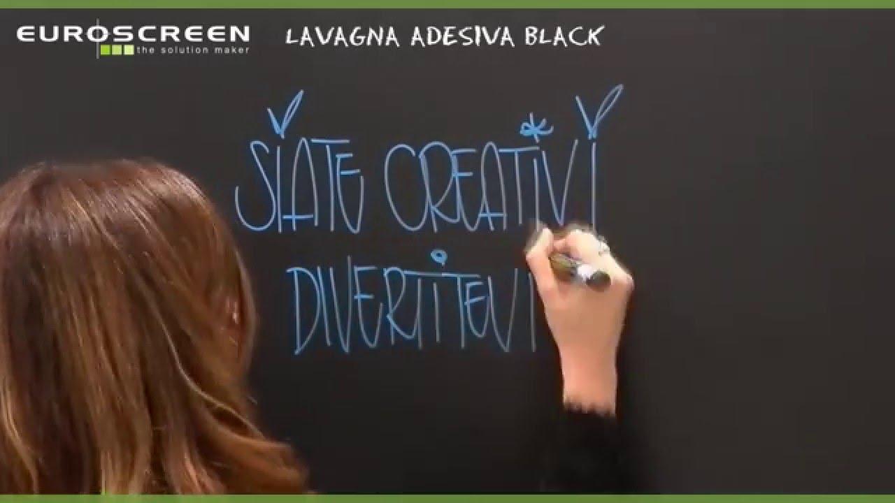 LAVAGNA ADESIVA BLACK - YouTube