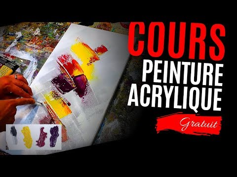 comment faire un tableau tutoriel de peinture acrylique complet youtube. Black Bedroom Furniture Sets. Home Design Ideas
