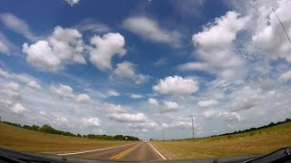 Driving 400 Miles Across Texas From San Angelo to Houston in 12 Minutes - A Time Drive Lapse