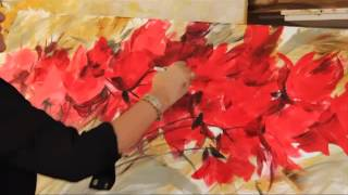 Repeat youtube video Gabriela Mensaque PINTANDO FLORES ROJAS