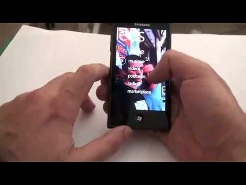 """Samsung GT-i8700 Omnia 7- Windows Phone 7"" - обзор (eng)"