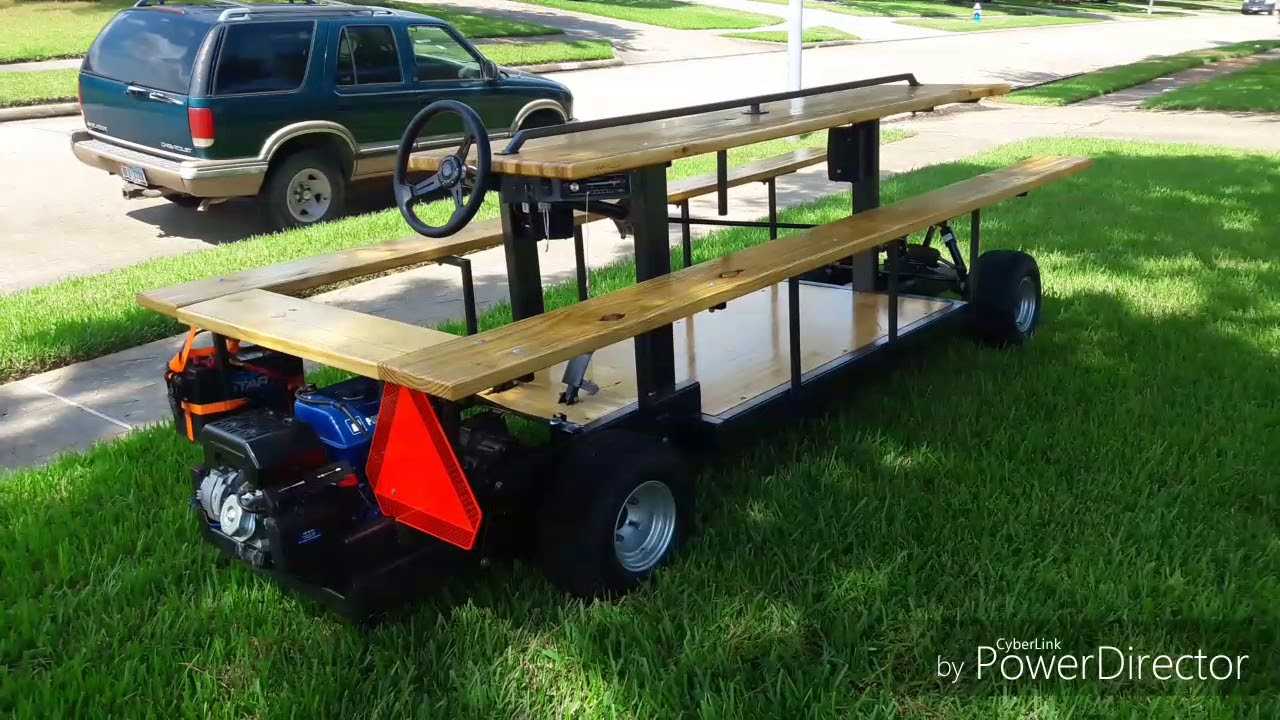 Gas Powered Picnic Table YouTube - Picnic table trailer
