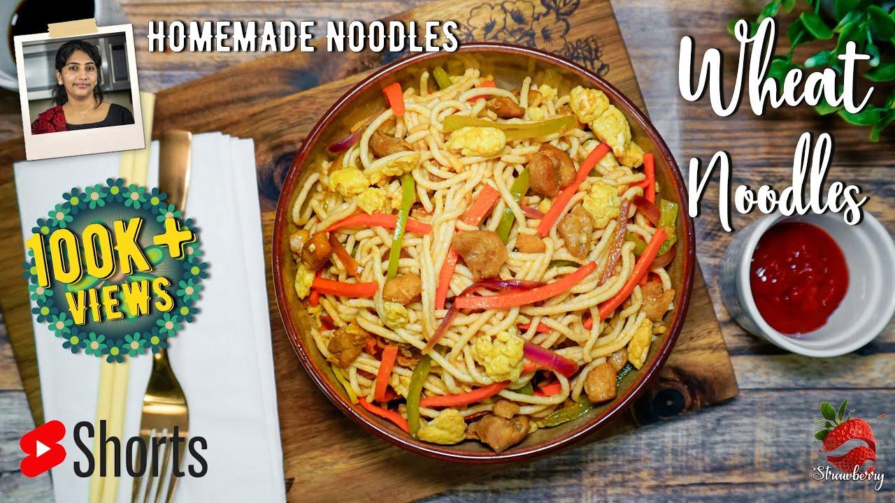 Homemade Noodles Recipe Malayalam   #shorts   Chicken Noodles   Wheat Noodles at Home   Egg Noodles