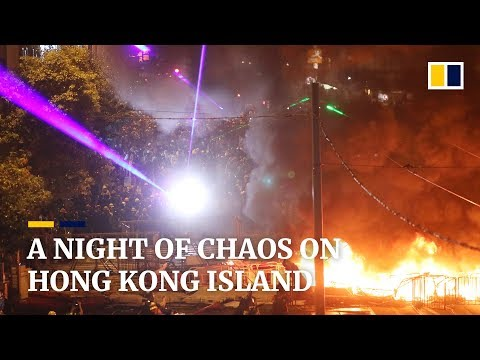 A Saturday night of chaos on the streets of Hong Kong