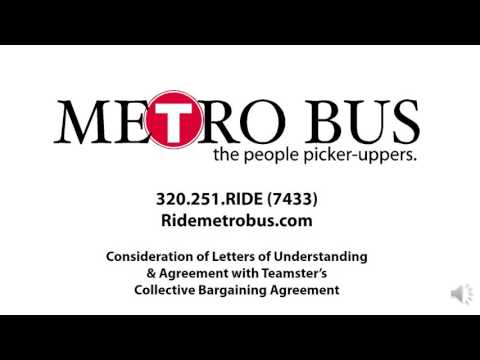 Metro Bus April 19, 2016 - Teamster's Collective Bargaining Agreement