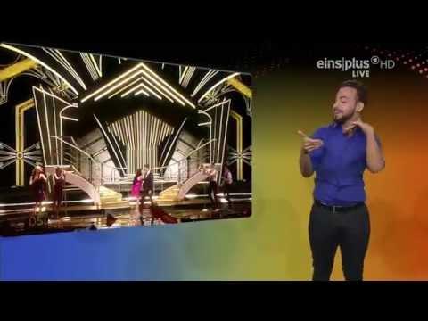Eurovision 2015 Final. Electro Velvet with translation into sign language.
