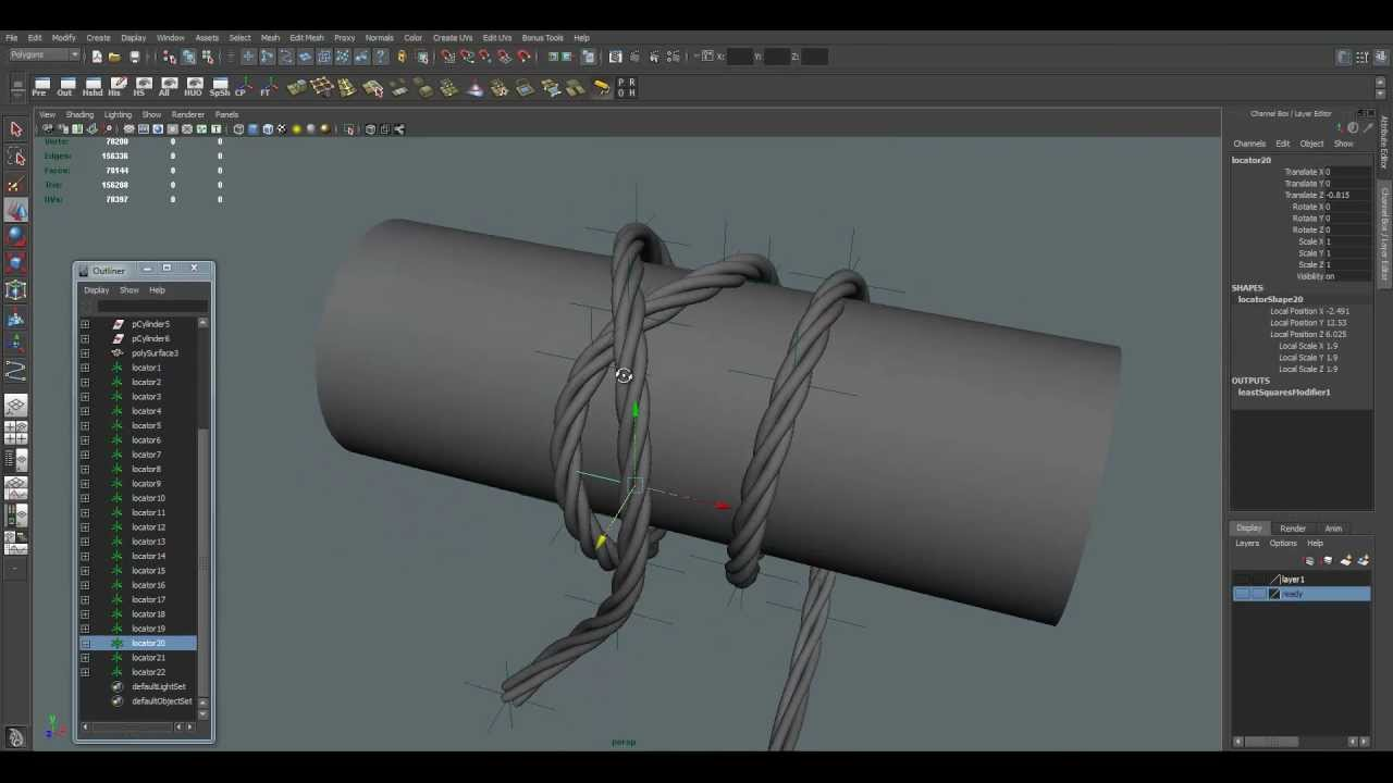 Maya Tutorial: Creation Wires, Rope - YouTube