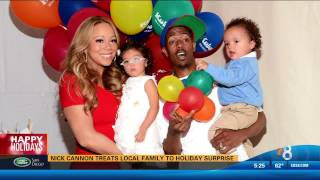 nick cannon gives gifts to san diego family