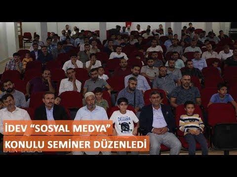 """İDEV """"Sosyal Medya"""" konulu seminer düzenledi"""
