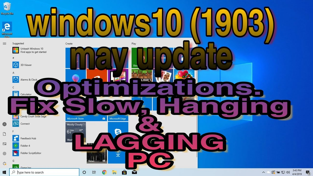 Windows 10 (1903)  How to Optimize Slow and Hanging Windows 10 PC May  Update |#OdTechInfo