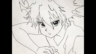 How to draw Killua (hunterxHunter)