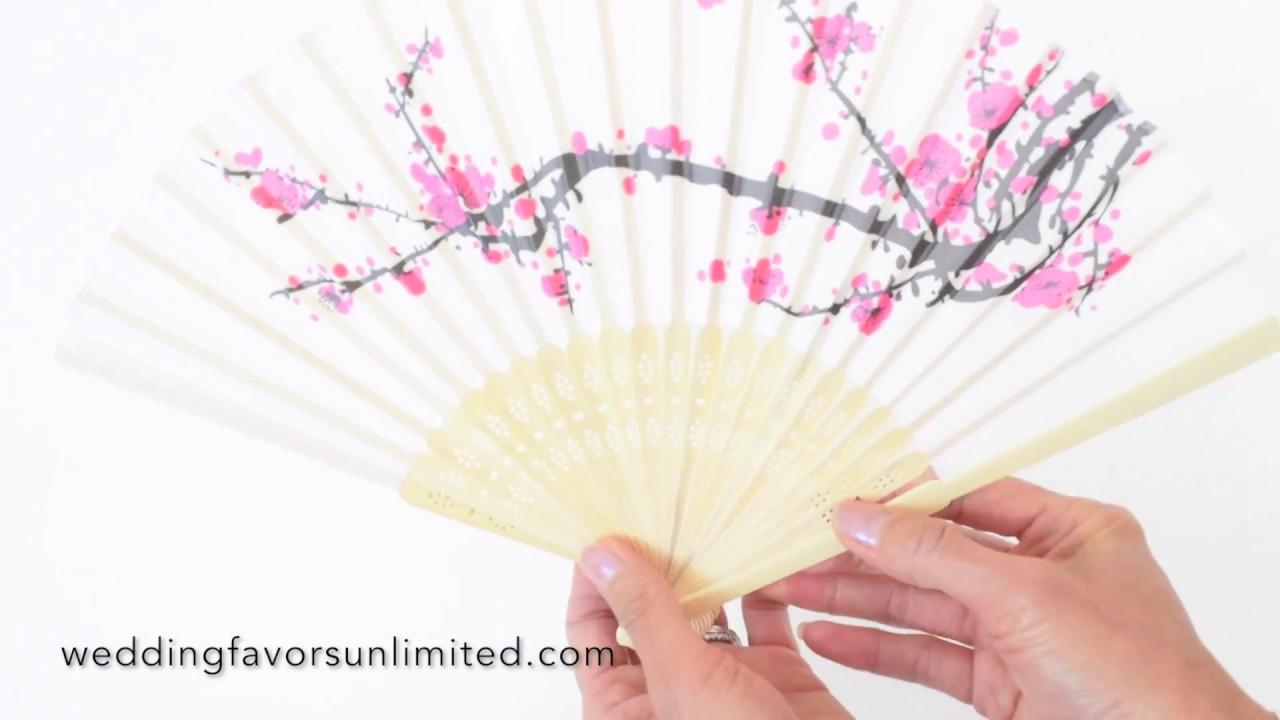 Fashioncraft Elegant Cherry Blossom Silk Folding Fans (FC-6207 ...