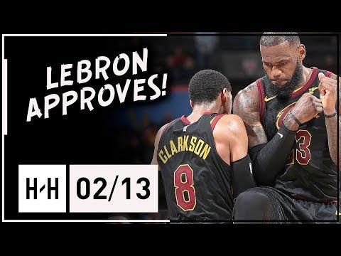 Jordan Clarkson Full Highlights Cavaliers vs Thunder (2018.02.13) - 14 Points, 4 Ast off the Bench!