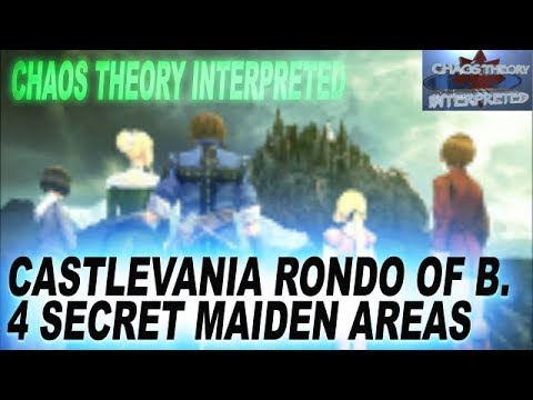 Castlevania Rondo Of Blood Psp All 4 Maiden Locations Maria Tera