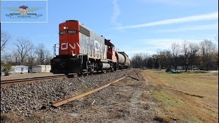 Northbound CN Greenwood Local L536-Glendora, Mississippi