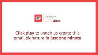 Watch us create this HTML email signature in just one minute Mp3