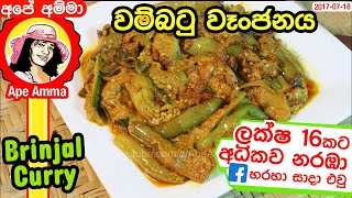 Delicious brinjal curry by Ape Amma