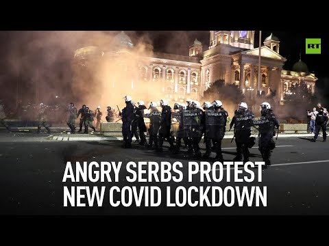 COVID-19 Protests | Serbians rally against latest lockdown measures