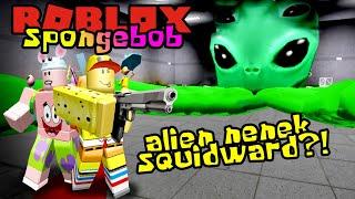 SPONGEBOB DAN PATRICK MELAWAN ALIEN AREA 51!! 👽😎 - Roblox Spongebob Indonesia