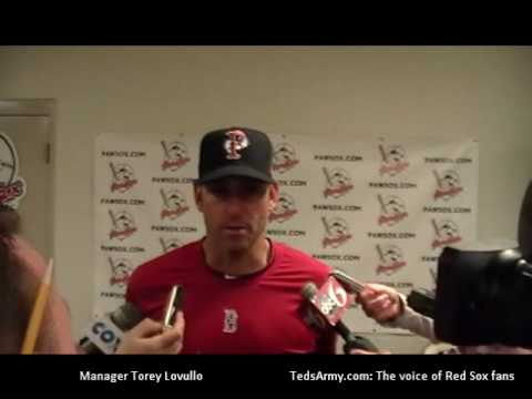Jacoby Ellsbury Pawsox at-bats with Torey Lovullo postgame