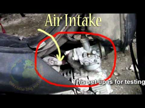 Honda wave 100   HHO generator without electrical charge - YouTube