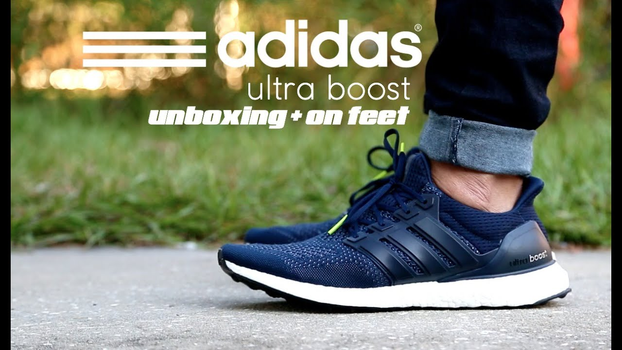 promo code ed5c3 b6356 Adidas Ultra Boost Collegiate Navy Unboxing + On Feet