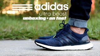 Adidas Ultra Boost Collegiate Navy Unboxing + On Feet