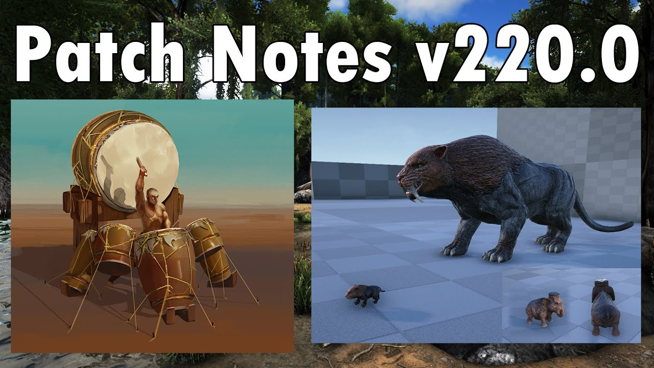 Ark survival evolved patch notes - Ark Survival Evolved Patch Notes V220 0 Mammal Pregnancy Mountable War Drums