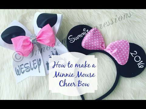 How to make a Minnie Mouse Cheer Bow