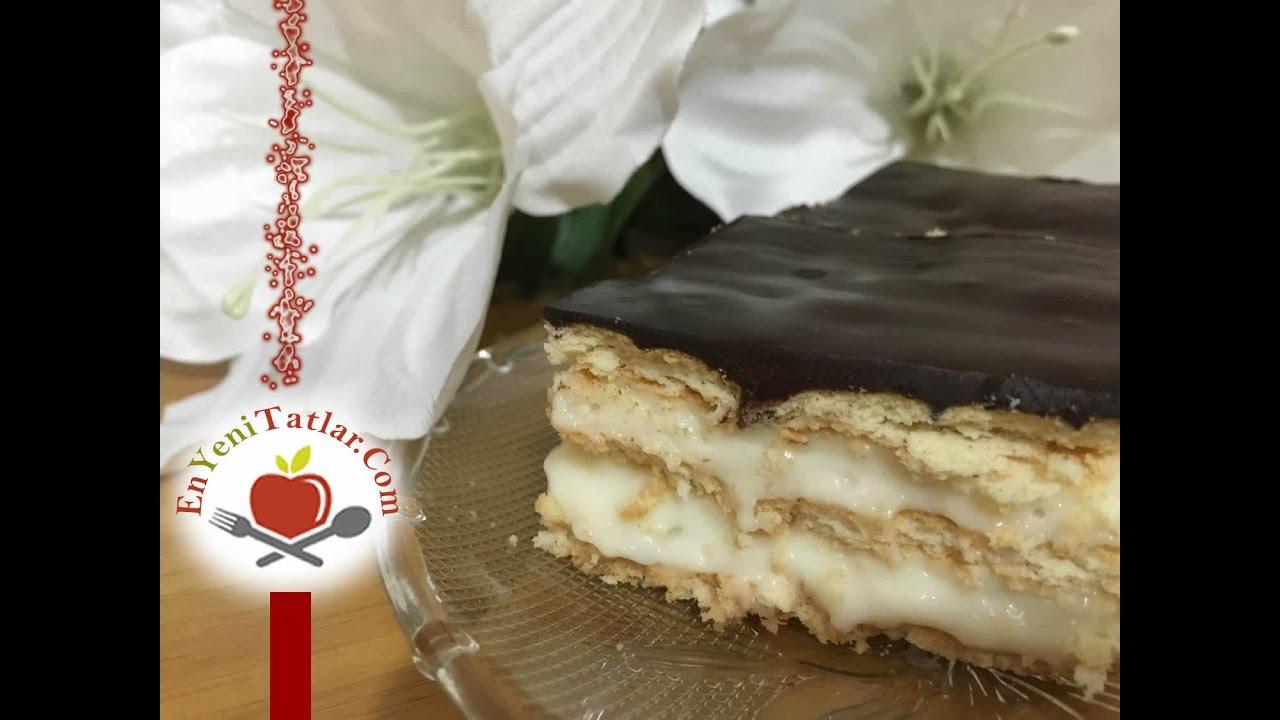 Çikolata Soslu Labneli Bisküvi Tatlısı Tarifi Videosu