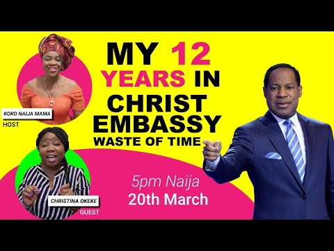 CHRIST EMBASSY IS A CULT ROOM NOT A CHURCH