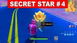 FORTNITE SEASON 5 SECRET BATTLE STAR LOCATION! - WEEK 4 (Road Trip Challenges)