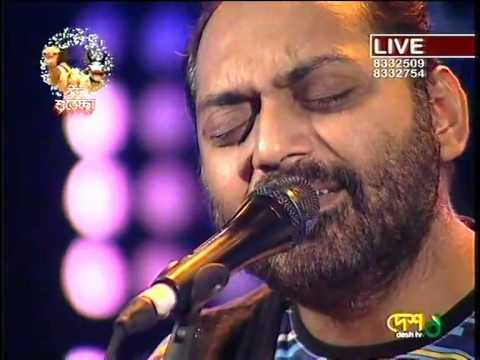Amar Bhindeshi Tara by Chandrabindoo Band Live Programme at Desh TV