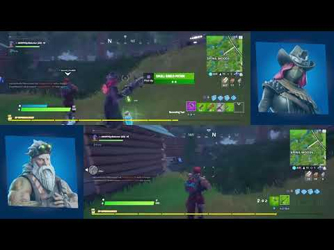 Fortnite Split Screen Gameplay